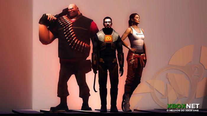 Imagem do game The Orange Box um dos melhores títulos do console xbox 360