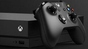 Capa da categoria jogos xbox one e 360, a imagem mostra uma foto do console mais recente da Microsoft