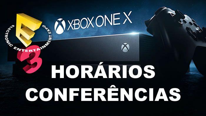 Horários Conferências E3 2018